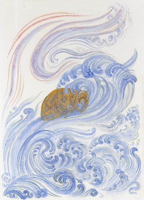 Лопатин, Палех, бочка в море, приучение детей к чтению русских сказок, крупный шрифт, много иллюстраций русских художников