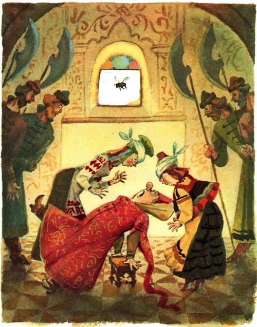 Нос ужалил богатырь: На носу вскочил волдырь, любимая наша сказка о царе Салтане, весь текст полностью читать бесплатно и без регистрации онлайн прямо сейчас с картинками и крупным шрифтом