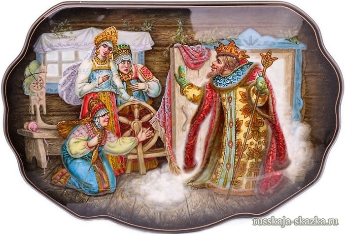 Читать сказку, Известная сказка великого русского поэта А.С.Пушкина сказка о царе Салтане , проиллюстрированная множеством иллюстраций замечательных русских художников
