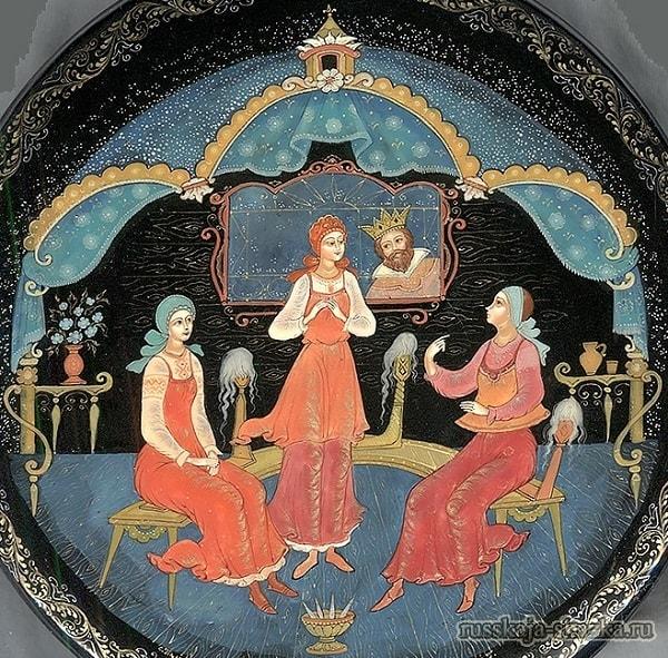 Три девицы, сказки русских писателей , большой выбор разных сказок для чтения и просмотра, также можно прослушать аудиосказки, аудиокниги