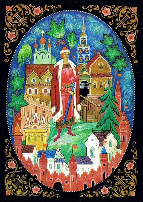 читайте сказку о царе Салтане, автор Пушкин Александр Сергеевич, сказка полностью, крупный шрифт, много красивых картинок, рисунков, иллюстраций русских художников