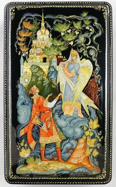 Да! такая есть девица, читать сказку Пушкина о царе Салтане онлайн бесплатно с красивыми красочными картинками