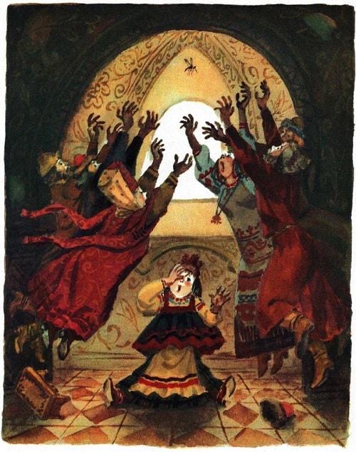 художник Анатолий Елисеев, читать сказку Пушкина о царе Салтане онлайн бесплатно с красивыми красочными картинками