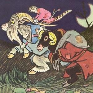Кот - серый лоб, козел да баран русская народная сказка для маленьких читать онлайн книга крупный шрифт картинка иллюстрация бесплатно на ночь