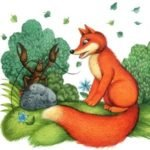 Лиса и рак русская народная сказка картинка читать онлайн крупный шрифт детская литература книга щкола детский сад