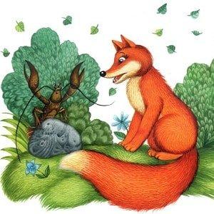 картинка лиса для детей из сказки