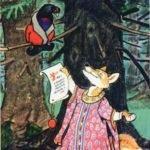 Лиса и тетерев читать сказку онлайн русская народная картинка на ночь