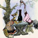 Лиса и журавль русская народная сказка для детей картинка детский сад школа книга онлайн читать крупный шрифт