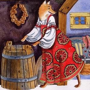 Лиса-повитуха русская народная сказка картинка читать онлайн книгу бесплатно крупный шрифт для детей