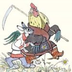 Лиса, заяц и петух читать русскую народную сказку бесплатно онлайн текст полностью крупный шрифт