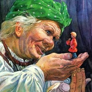Мальчик с пальчик русская народная сазка читать на ночь для детей картинка онлайн книжка крупный текст