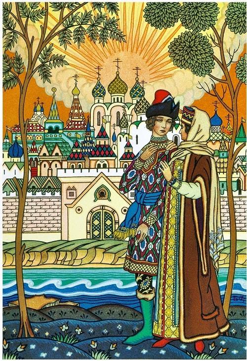 Сказка о царе Салтане, Борис Зворыкин, золотая коллекция сказок Пушкина А.С. с картинками для детей