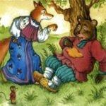 Медведь и лиса русская сказка для маленьких детей читать онлайн картинка крупный шрифт