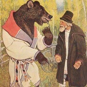 Мужик, медведь и лиса русская народная сказка читать онлайн крупный шрифт картинка