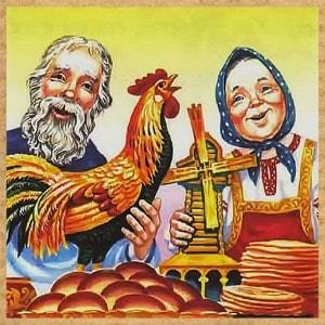 Петушок - золотой гребешок и жерновцы читать онлайн картинка для детей бесплатно