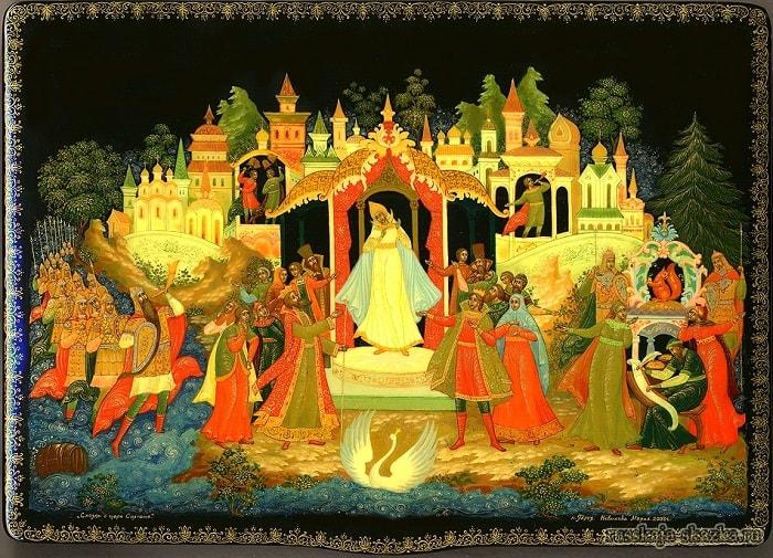 царевна лебедь, автор сказки о царе Салтане Александр Сергеевич Пушкин гений русской словесности, это одна из лучших его сказок