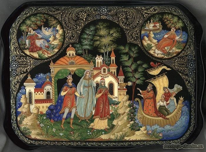 царь Салтан приплыл к князю Гвидону, автор сказки о царе Салтане Александр Сергеевич Пушкин гений русской словесности, это одна из лучших его сказок