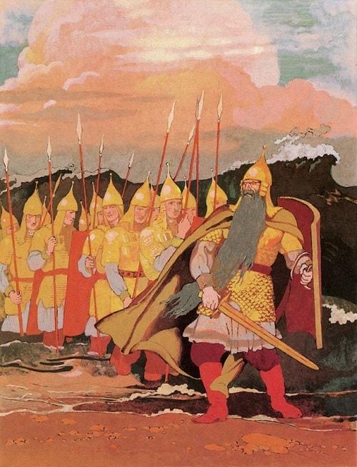С ними дядька Черномор, автор сказки о царе Салтане Александр Сергеевич Пушкин гений русской словесности, это одна из лучших его сказок