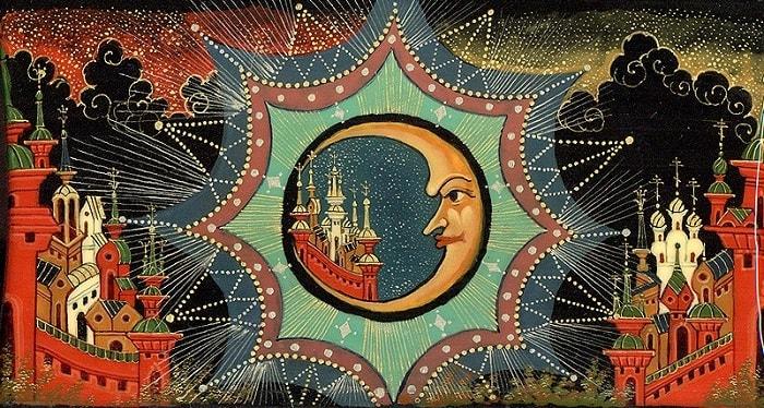 картинки к сказке, приучение детей к чтению русских сказок, крупный шрифт, много иллюстраций русских художников
