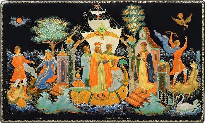 князь Гвидон встречает батюшку, на сайте russkaja-skazka.ru много разных сказок , диафильмов, мультфильмов, фильмов и аудиосказок