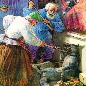 Старик и волк сказка для детей русская народная