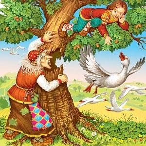 Терёшечка читать русскую народную сказку с картинками крупный шрифт для детей бесплатно