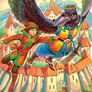 Три царства - медное, серебряное и золотое читать русскую народную сказку с картинками крупный шрифт для школы и детского сада онлайн