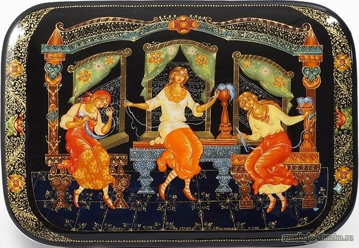 Три девицы миниатюра, Волшебная добрая сказка для детей детского сада и школьного возраста о том как заточили царевну с ребёнком в бочку и кинули в море океан
