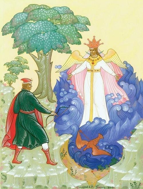 Палех, картина художник Смирнов, русский язык и литература Пушкин А.С., сказки, детская литература