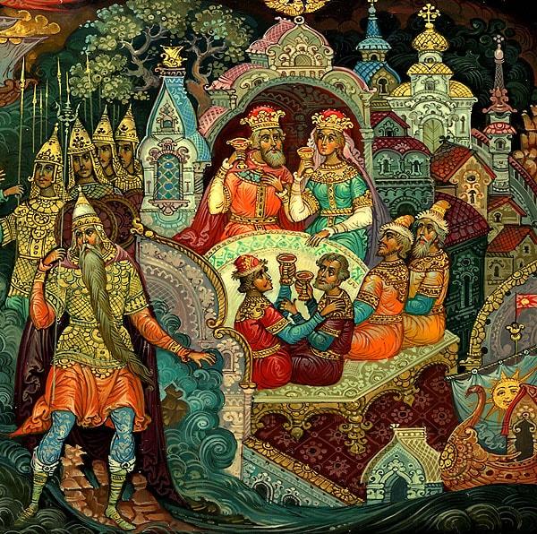 Я там был; мед, пиво пил, русские народные промыслы, яркие снимки, фотографии, красивые картинки с сюжетами сказки Пушкина о царе Салтане