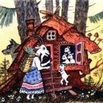 Волк и семеро козлят, русская народная сказка читать детям картинка крупный шрифт детская литература онлайн