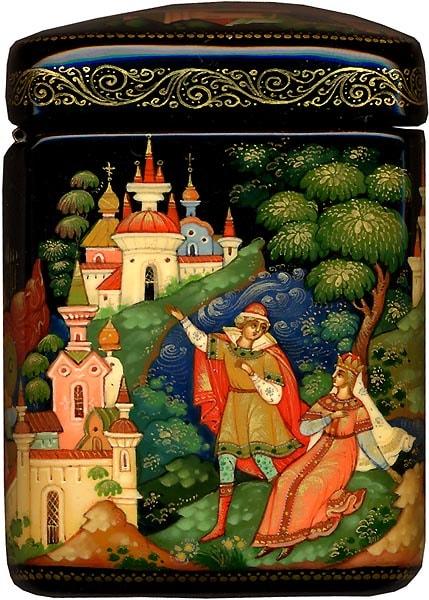 видит город он большой, читать сказку Пушкина о царе Салтане онлайн бесплатно с красивыми красочными картинками