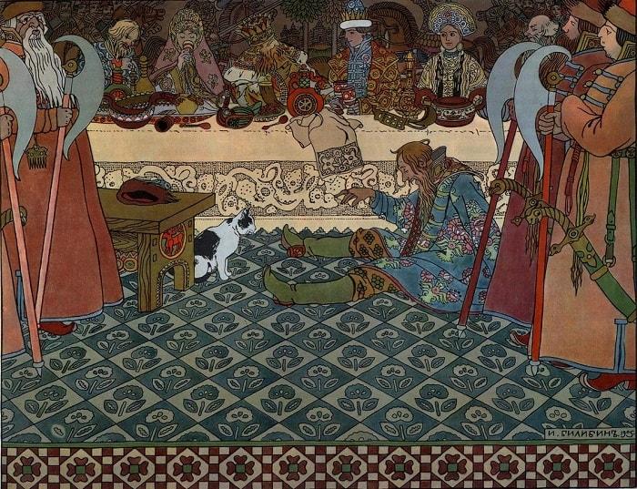 Билибин, детям легко читать сказку о царе Салтане, когда в ней много картинок и крупный шрифт текста