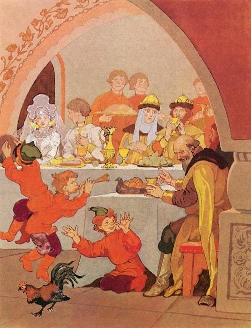 Пир царя Салтана, русский язык и литература Пушкин А.С., сказки, детская литература