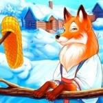 За лапоток - курочку, за курочку - гусочку, русская сказка читать для детей иллюстрация крупный шрифт