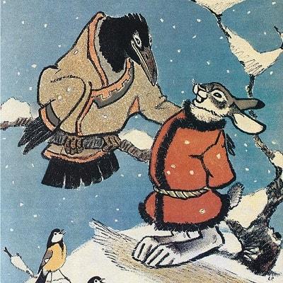 Заяц-хваста русская народная сказка читать картинка иллюстрация для детей онлайн