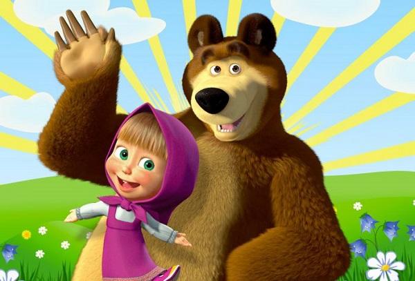мультгерои Маша и Медведь