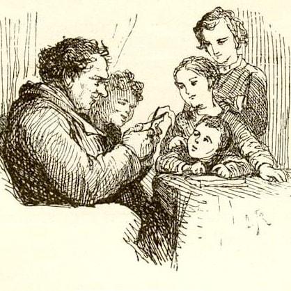 Альбом крестного, Андерсен Г.Х, читать сказку онлайн на русском язуке для детей книга крупный шрифт