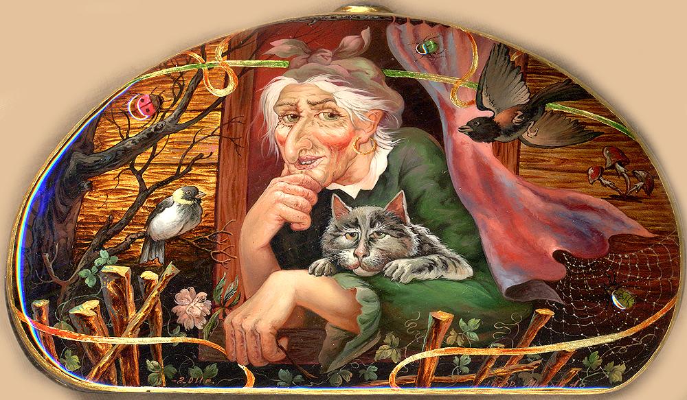 Баба-яга героиня русской сказки