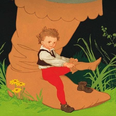Мальчик с пальчик сказка Шарль Перро картинка книга крупный шрифт читать для детей онлайн
