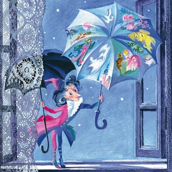 Оле-Лукойе, Г.Х.Андерсен, читать сказку онлайн с картинкой для детей сказки Андерсена бесплатно детская литература школьникам книги