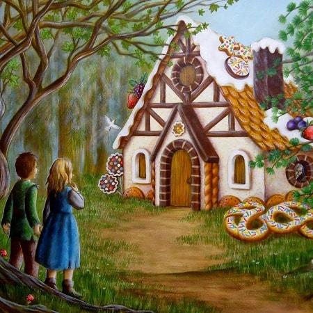 Пряничный домик читать сказку Шарля Перро онлайн для детей книга