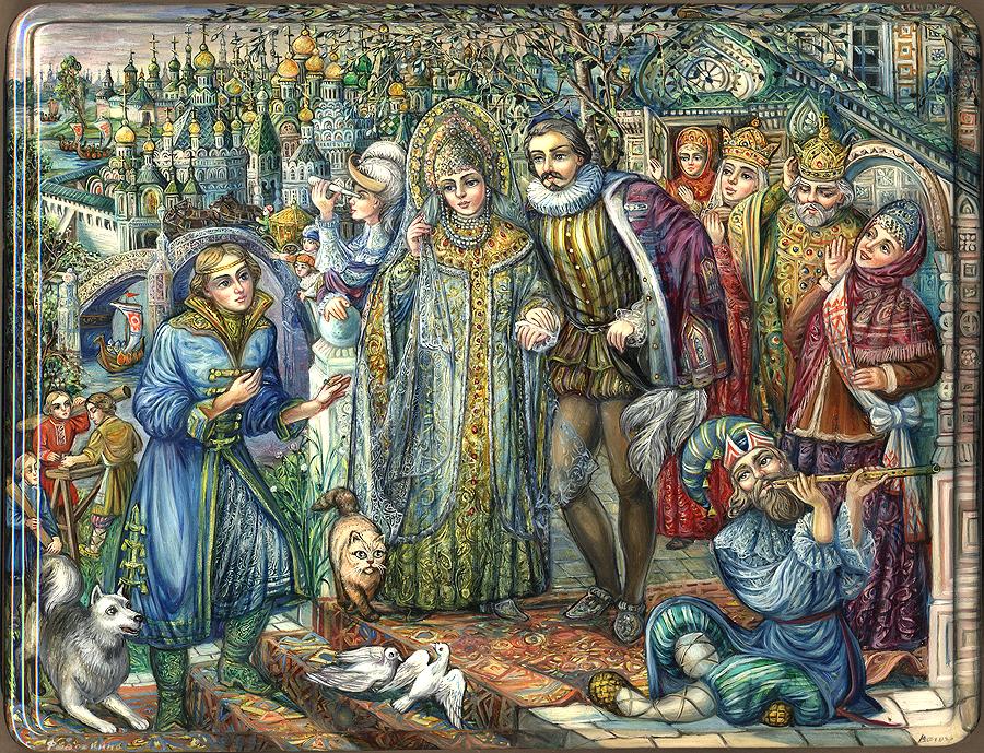 Волшебное кольцо русская народная сказка про Мартынку, собачку, кошку и колечко