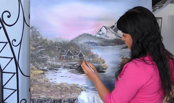 Рисуем красками. Пошаговые видео курсы Виктория Латка