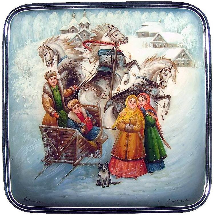 Русская лаковая миниатюра история сказки
