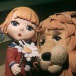 Девочка и лев, мультфильм (1974) сказка для детей кукольная анимация