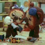 Два медвежонка, мультфильм (1977) кукольный детские сказки смотри в хорошем качестве