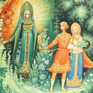 Хозяйка медной горы читайте сказку Бажова онлайн детская книга с картинкой