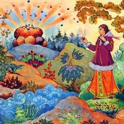 Ключ земли сказка Бажова уральские сказы детская книга с картинкой читаем онлайн