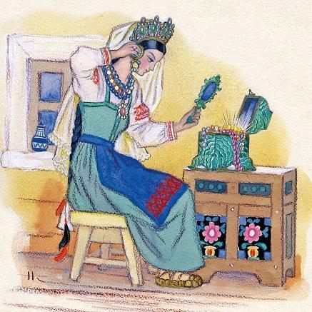 Малахитовая шкатулка сказка бажова для детей читайте уральские сказы онлайн рисунок